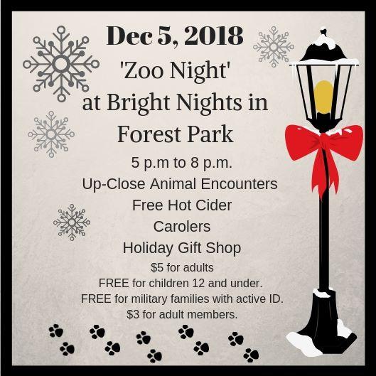 Zoo Night at Bright Nights Dec 5th 5-8pm